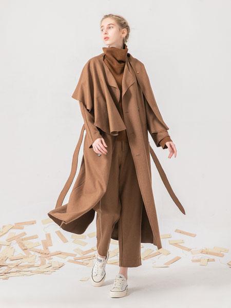 庄玛女装品牌彩38平台长款外套卡其色