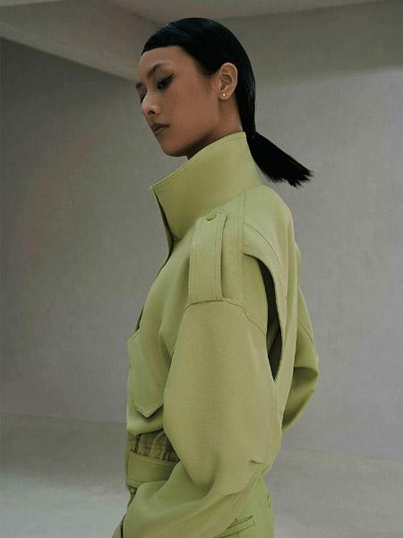 SY+女装品牌2021春夏绿色俏皮中长款外套