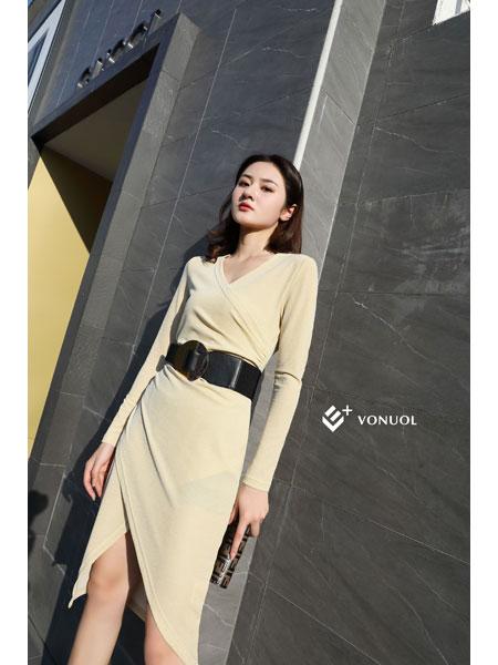 E+vonuol我的私人衣橱女装品牌2021春装淑女休闲连衣裙