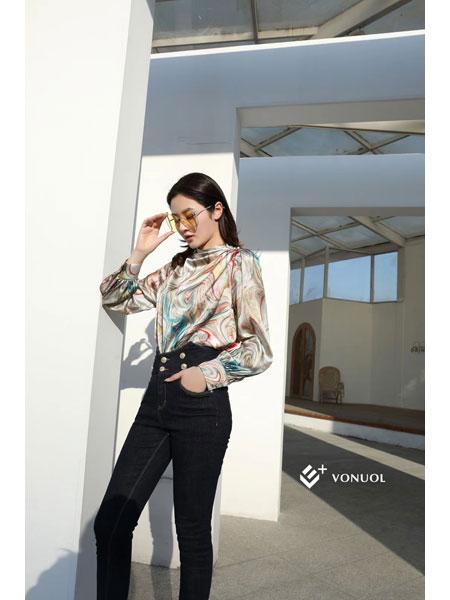 E+vonuol我的私人衣橱女装品牌2021春装撞色OL休闲套装