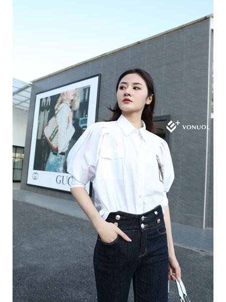 E+vonuol我的私人衣橱女装品牌2021春装OL女神衬衫