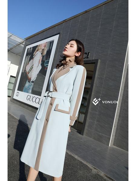 E+vonuol我的私人衣橱女装品牌2021春装OL中长款女神外套