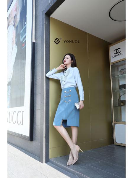 E+vonuol我的私人衣橱女装品牌2021春装OL商务气质职业装