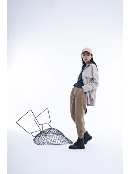 留刻LIUKE女装品牌2021春夏短款外套长袖