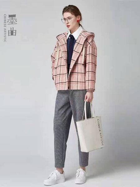 墨曲女装品牌2021春季长袖文艺范短款外套