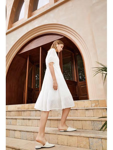 你即永恒女装品牌2021春夏白色俏皮小公举休闲裙子