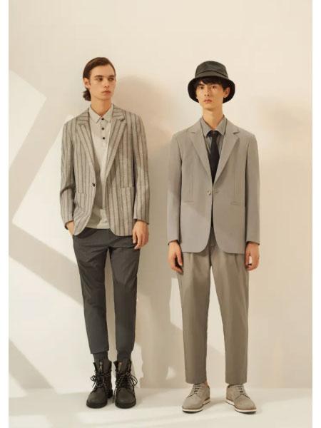 1943S男装品牌2021春款街头极简休闲套装
