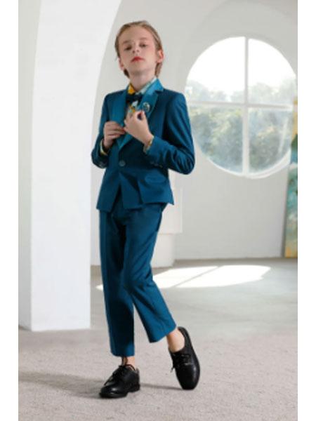 Dorm哆瑞咪童装品牌2021春夏藏青个性礼服