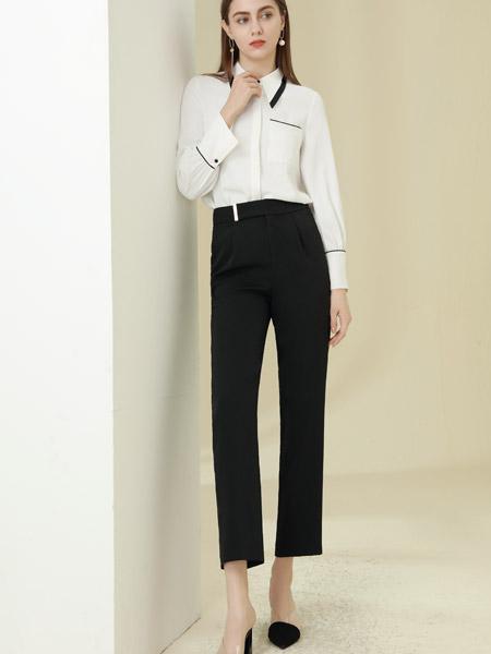 爱依莲女装品牌彩38平台2021春夏白色俏皮气质套装