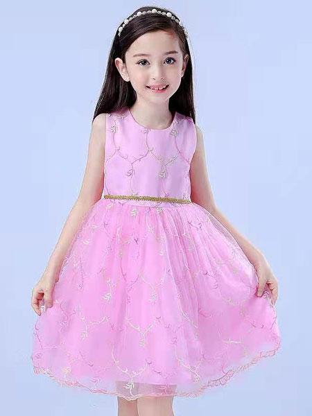 宾果童话童装品牌2021春夏公主无袖
