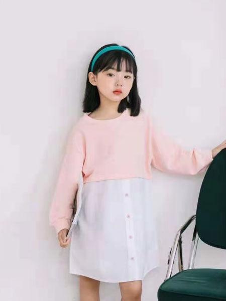 小嗨皮童装品牌2021春夏撞色连衣裙