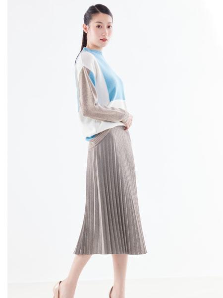 白领女装品牌2021春夏圆领衬衫