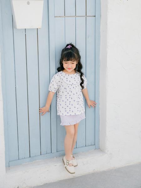小猪宾果童装品牌2021春夏波点短袖