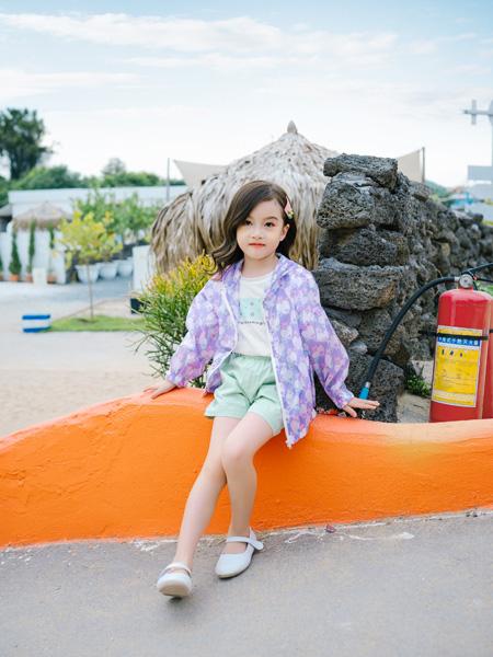 KISSABC童装品牌2021春夏紫色防晒衣
