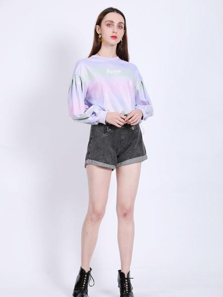 SASLAX莎斯莱思女装品牌2021春夏百搭圆领