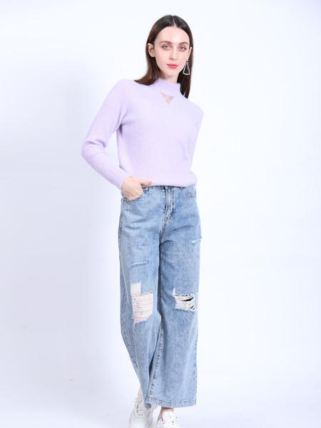 SASLAX莎斯�R思女�b品牌2021春夏�\紫色高�I