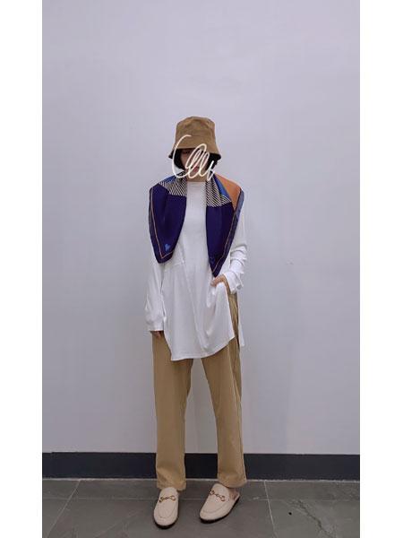 读色女装品牌2021春夏白色长袖