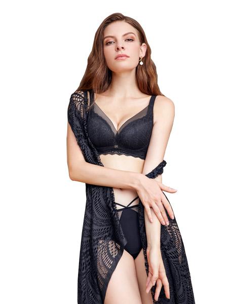 女人心内衣品牌2021春夏黑色调整型内衣聚拢内衣