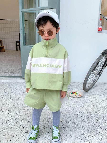 宾果童话童装品牌2021春夏长袖运动套装