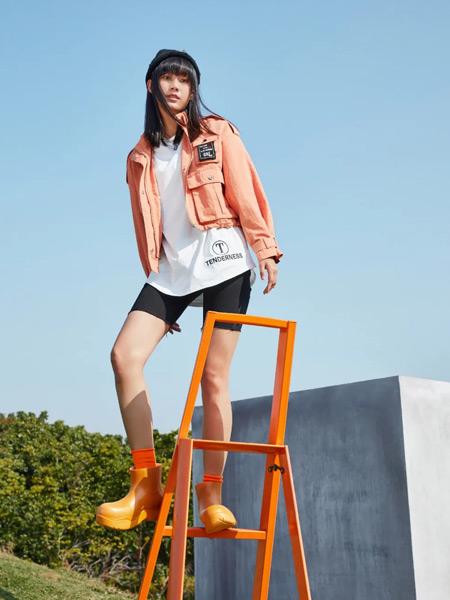 麦寻女装品牌2021春夏橙色外套