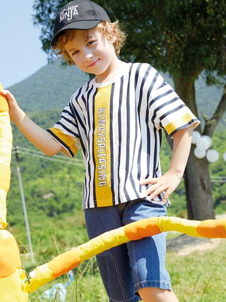 铅笔俱乐部童装品牌2021春夏运动条纹外衣