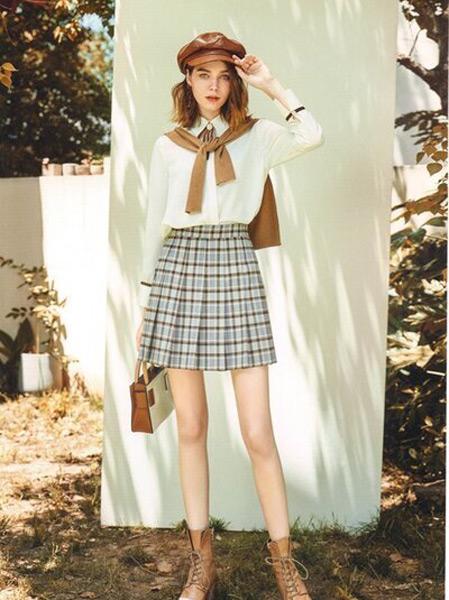 卡熙名品女装品牌2021春夏学院风套裙