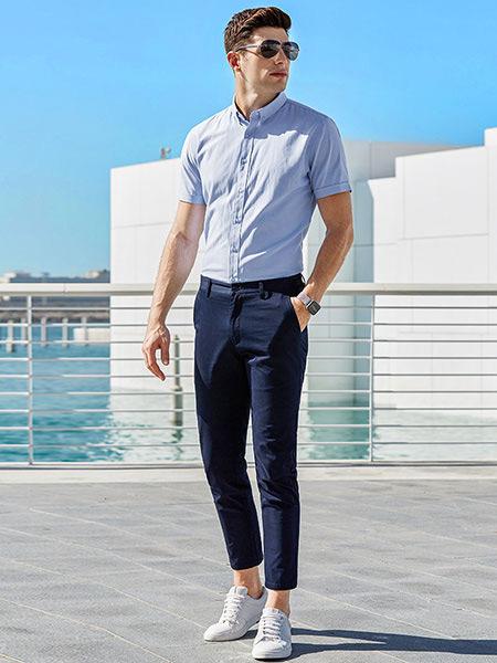 乔治邦尼男装品牌2021春夏短袖衬衫外衣
