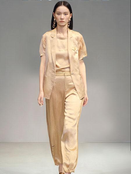 碧淑黛芙女装品牌2021春夏橙亮色套装
