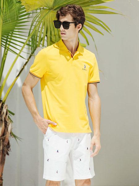 卡度尼男装品牌2021春夏黄色衬衫