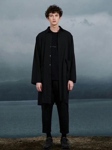 J.P.E男�b品牌2021春夏黑色�L款外套