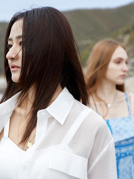E+vonuol我的私人衣橱女装品牌2021春夏雪纺外衣