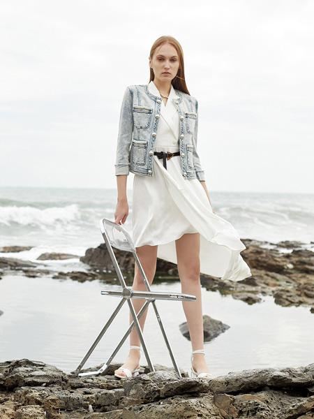 E+vonuol我的私人衣橱女装品牌2021春夏排扣外套