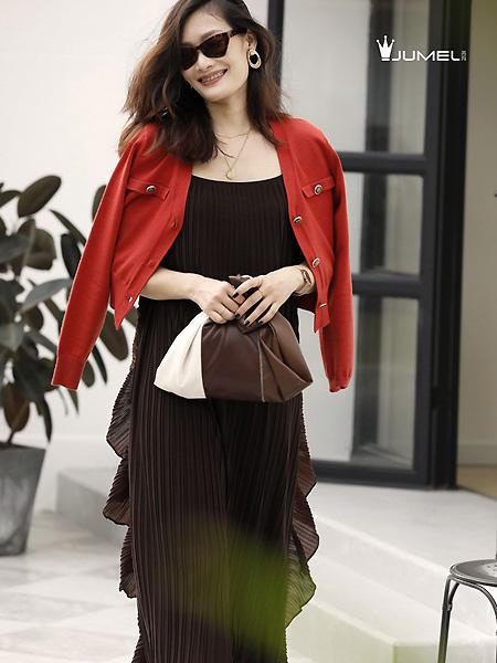 芮玛女装品牌2021春夏时尚黑色长裙