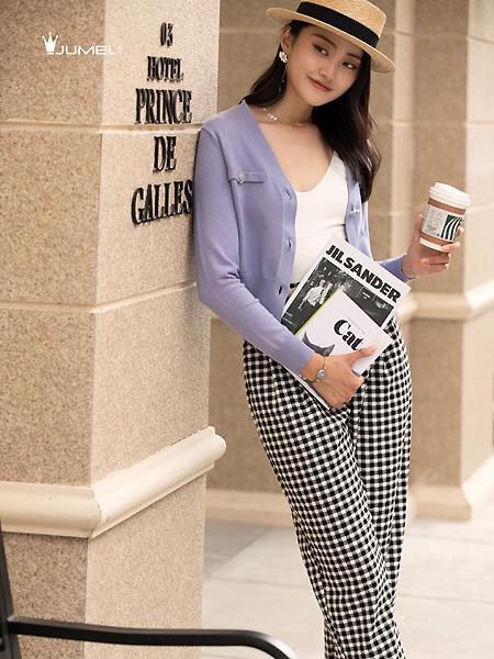 芮玛女装品牌2021春夏紫色外套