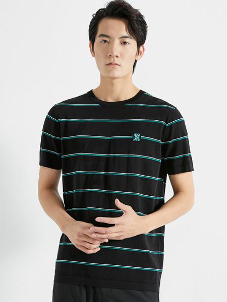 劲霸K-BOXING男装品牌2021春夏条纹运动上衣