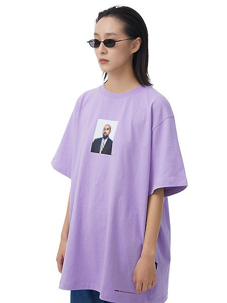 FMACM潮牌品牌2021春夏紫色宽松休闲上衣