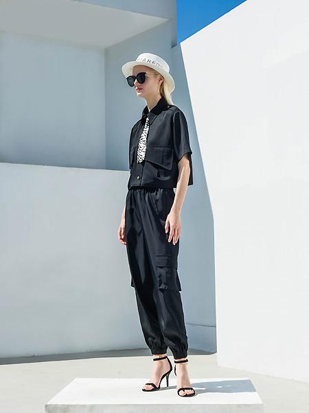 例格女装品牌2021春夏通勤中袖上衣