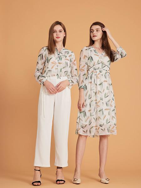 集嫻女裝品牌2021春夏森系優雅上衣