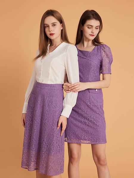 集娴女装品牌2021春夏baseV领长袖上衣