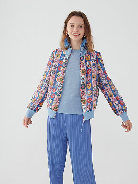 tanni女装品牌2021春夏印花时尚外套