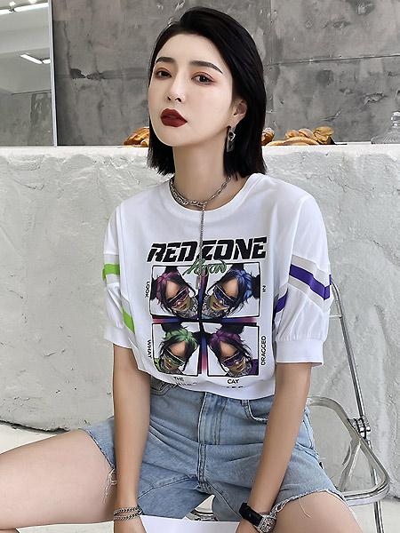拓谷TUOGU女装品牌2021春夏时尚纯棉吸汗T恤