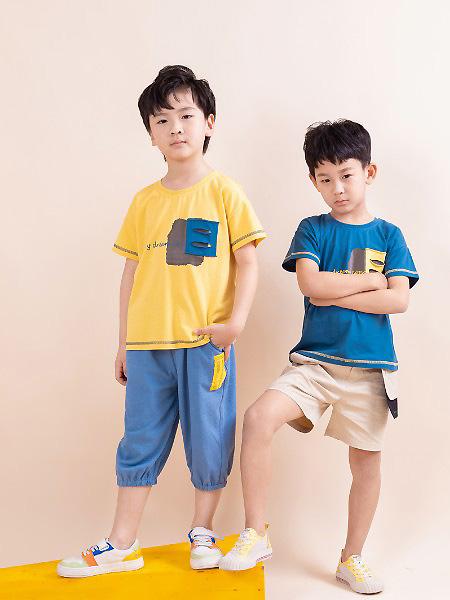 棉绘童装品牌2021春夏运动T恤
