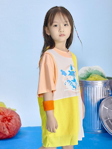 宝贝传奇童装品牌2021春夏户外两件套连衣裙