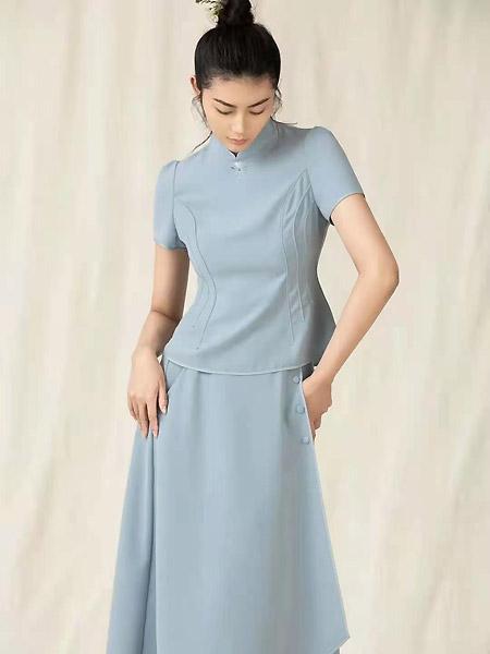 衡韵女装品牌2021春夏中国风套裙
