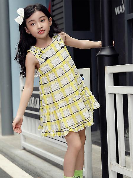 蒙蒙摩米 mesamis童装品牌2021夏季格子连衣裙