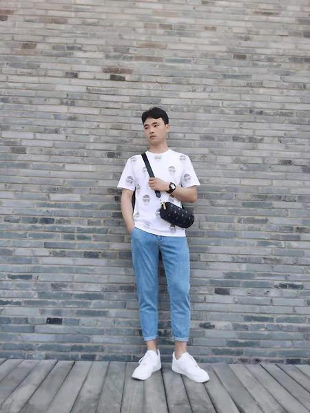 奥克男装品牌2021夏季森系帅气T恤