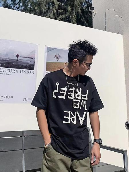 CKSK男装品牌2021夏季印字母时尚T恤