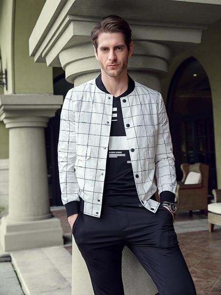 步西尼男装品牌2021夏季格子无袖外套