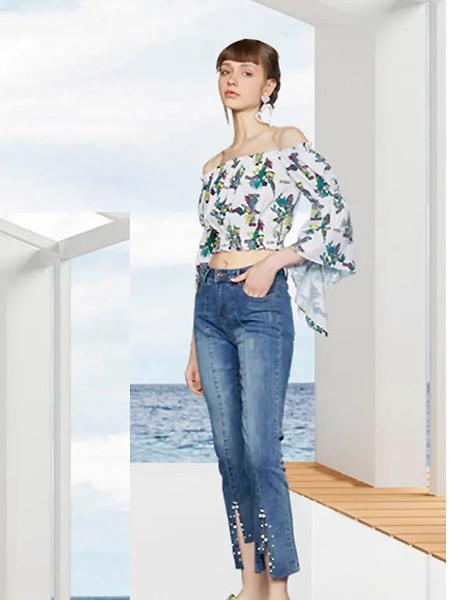 OCKKJ女装品牌2021夏季一字肩短款时尚连衣裙