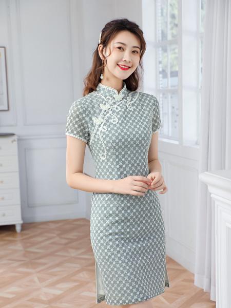 唐雅阁女装品牌2021夏季可爱甜美学生改良旗袍
